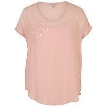 Buy Chesca Silk Bead Trim Blouse Online at johnlewis.com
