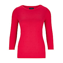 Buy Viyella Bobble Knit Jumper, Raspberry Online at johnlewis.com