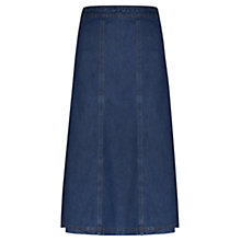 Buy Viyella Denim Fit and Flare Skirt, Chambray Online at johnlewis.com