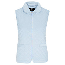 Buy Viyella Petite Corduroy Quilted Gilet, Pale Blue Online at johnlewis.com