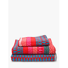Buy Margo Selby for John Lewis Faversham Towels, Red Online at johnlewis.com