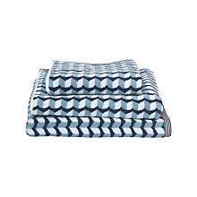 Buy Margo Selby for John Lewis Charing Towels, Blue Online at johnlewis.com