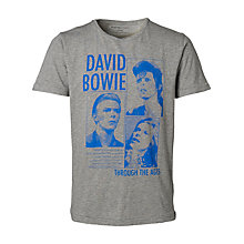 Buy Selected Homme David Bowie T-Shirt, Grey Online at johnlewis.com