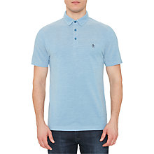 Buy Original Penguin Birdseye Pique Polo Shirt, Deep Water Online at johnlewis.com
