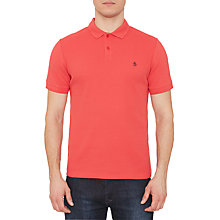 Buy Original Penguin Waffle Print Polo Shirt, Rococco Red Online at johnlewis.com