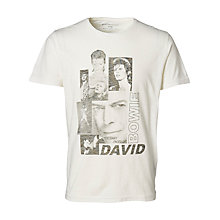 Buy Selected Homme David Bowie T-Shirt, Marshmallow Online at johnlewis.com