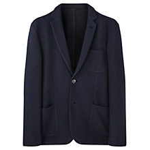 Buy Jigsaw Wool Jersey Tailored Blazer, Navy Online at johnlewis.com