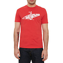 Buy Original Penguin Surfboard T-Shirt, Rococco Red Online at johnlewis.com