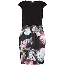 Buy Ted Baker Beryll Ethereal Posie Layer Dress, Black Online at johnlewis.com