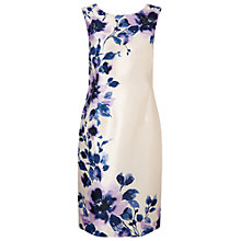 Buy Jacques Vert Petite Peony Placement Print Dress, Cream/Multi Online at johnlewis.com
