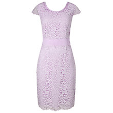 Buy Jacques Vert Petite Lace Dress, Lilac Online at johnlewis.com