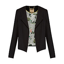 Buy Ted Baker Formie Waterfall Front Jacket, Black Online at johnlewis.com