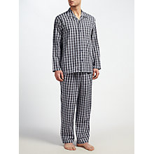 Buy John Lewis Ealing Check Pyjamas, Navy Online at johnlewis.com