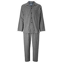 Buy John Lewis Ealing Check Pyjamas, Grey Online at johnlewis.com