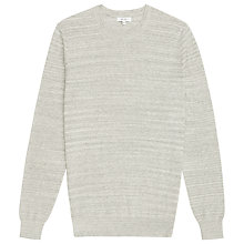 Buy Reiss Corbit Fine Ribbed Jumper, Grey Online at johnlewis.com