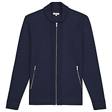 Buy Reiss Jamison Shawl Collar Zip Cardigan, Navy Online at johnlewis.com