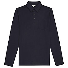 Buy Reiss Parry Long Sleeve Polo Shirt, Navy Online at johnlewis.com