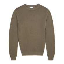 Buy Reiss Castle Textured Weave Jumper, Olive Online at johnlewis.com