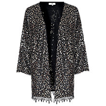 Buy True Decadence Sequin Embellished Kimono, Black/Silver Online at johnlewis.com