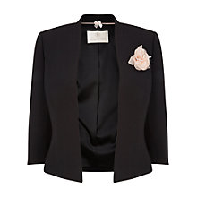Buy Jacques Vert Crepe Corsage Jacket, Black Online at johnlewis.com