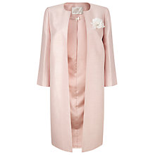 Buy Jacques Vert Long Occasion Coat, Blossom Pink Online at johnlewis.com