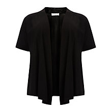 Buy Windsmoor Linen Yarn Short Sleeve Cardigan, Black Online at johnlewis.com