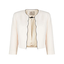 Buy Jacques Vert Petite Scallop Edge Jacket, Cream Online at johnlewis.com