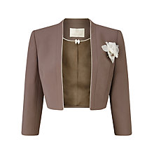 Buy Jacques Vert Petite Contrast Edge Bolero, Taupe Online at johnlewis.com