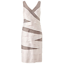 Buy Jacques Vert Shimmer Shutter Dress, Soft Grey/Taupe Online at johnlewis.com