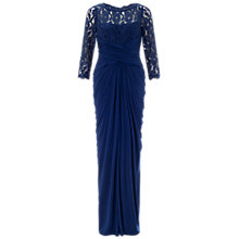 Buy Adrianna Papell Lace And Venechia Jersey Gown, Navy Online at johnlewis.com