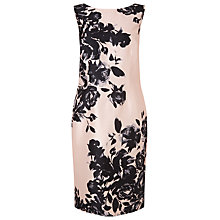 Buy Jacques Vert Petite Floral Placement Dress, Blossom Pink/Multi Online at johnlewis.com