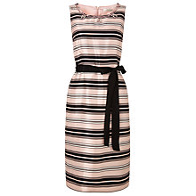 Buy Jacques Vert Embellished Stripe Dress, Blossom Pink/Multi Online at johnlewis.com