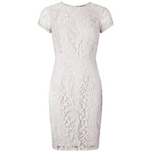 Buy Adrianna Papell Beaded Jewel Neckline Dress, Powder Pink Online at johnlewis.com