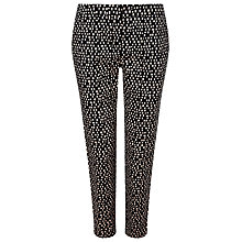 Buy Precis Petite Square Print Trousers, Black Online at johnlewis.com