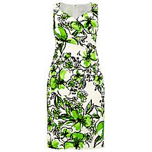Buy Windsmoor Printed Floral Dress, Cream/Green Online at johnlewis.com
