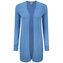 Buy Pure Collection Alexandra Sustainable Cashmere Longline Cardigan, Cornflower Blue Online at johnlewis.com