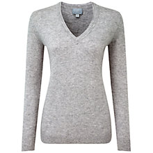 Buy Pure Collection Carline Cashmere Double V Neck Sweater, Heather Dove Online at johnlewis.com