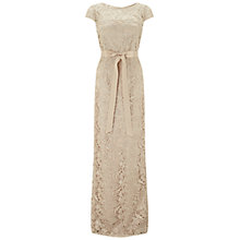 Buy Adrianna Papell Cap Sleeve Lace Gown, Champagne Online at johnlewis.com