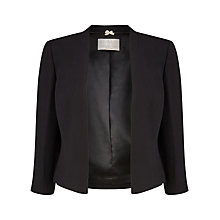 Buy Jacques Vert Petite Edge To Edge Jacket, Black Online at johnlewis.com