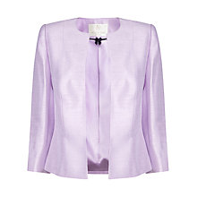 Buy Jacques Vert Petite Edge To Edge Jacket, Lilac Online at johnlewis.com