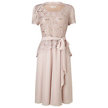 Buy Jacques Vert Petite Lace Bodice Chiffon Dress, Mid Neutral Online at johnlewis.com