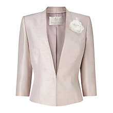 Buy Jacques Vert Petite Corsage Jacket, Soft Grey Online at johnlewis.com