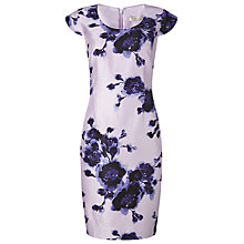 Buy Jacques Vert Petite Watercolour Peony Print Dress, Lilac/Multi Online at johnlewis.com