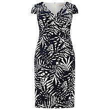 Buy Windsmoor Palm Leaf Print Dress, Navy/White Online at johnlewis.com