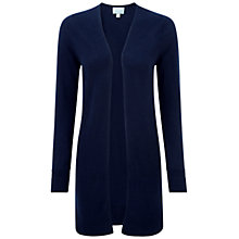 Buy Pure Collection Cambridge Gassato Cashmere Rib Longline Cardigan, Navy Online at johnlewis.com