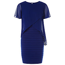 Buy Adrianna Papell Tiered Chiffon Overlay Sheath Dress, Night Online at johnlewis.com