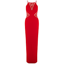 Buy Aidan Mattox Halter Jersey Column Gown, Red Online at johnlewis.com