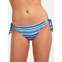 Buy John Lewis Sun Stripe Bunny Tie Bikini Briefs, Blue/Multi Online at johnlewis.com
