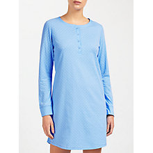 Buy John Lewis Carrie Spot Nightdress, Blue Online at johnlewis.com