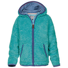 Buy Fat Face Girls' Aloa Eva Zip Through Fleece, Dusky Aqua Online at johnlewis.com